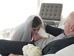 Babe, Big Ass, Blowjob, Boobless, Bride, Couch, Cum In Mouth, Cumshot, Deepthroat, Doggystyle,