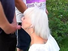 Amateur, Blowjob, Bukkake, Granny, Outdoor, Sexy, Stranger,