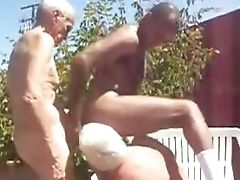 Black, Boy, Daddies, Grandpa, Group Sex, Old And Young, White,