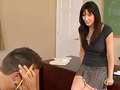 American, Blowjob, Bobcat, Brunette, Classroom, Clothed Sex, College, Cougar, Desk, Diana Prince,