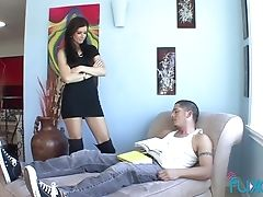 Blowjob, Cougar, Couple, Doggystyle, Friend, Hardcore, Horny, India Summer, Leather, Long Hair,