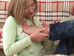 Babe, Fetish, Fingering, Foot Fetish, Jeans, Lesbian, Long Hair, Natural Tits, Oral Sex, Pussy,