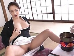 Big Tits, Japanese, Masturbation, Mature, Model, Natural Tits, Pussy, Socks, Solo, Wet,