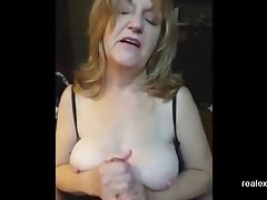Big Tits, Handjob, Mature, Wife,