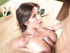 Big Tits, Blowjob, Cowgirl, Cum On Tits, Cumshot, Desk, Dick, Fake Tits, Hardcore, HD,