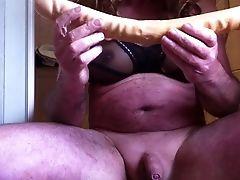 Amateur, Ass, Belly, Crossdressing, Huge Dildo, Mature, Sex Toys,
