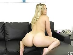Alexis Texas, Big Tits, Blonde, Bra, Couch, High Heels, Jerking, Long Hair, Masturbation, Model,