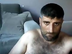 Bear, Big Cock, Hunk, Jerking, Masturbation, Muscular, Turkish,