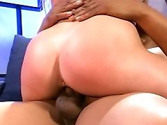 Aurora Snow, Black, Blowjob, Bold, Brunette, Couch, Handjob, Hardcore, Interracial, Riding,