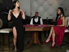 Ass, Ass Licking, Black, Cute, Fingering, Friend, High Heels, Interracial, Jerking, Lesbian,