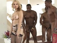 Big Black Cock, Blonde, Game, Gangbang, Hardcore, Interracial, Natural Tits, Nylon, Savannah, Stockings,